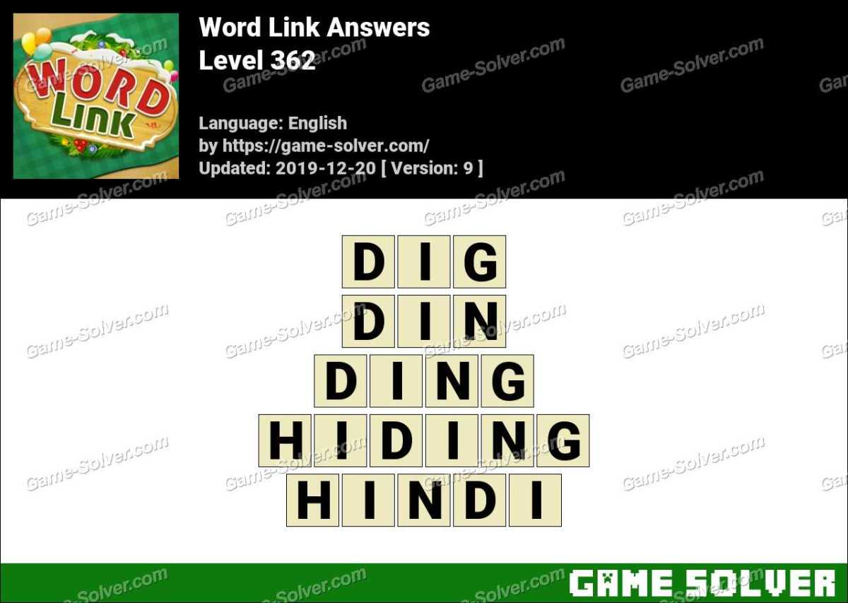 Word Link Level 362 Answers