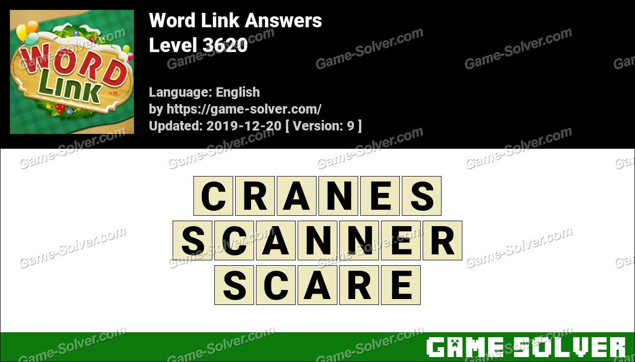 Word Link Level 3620 Answers