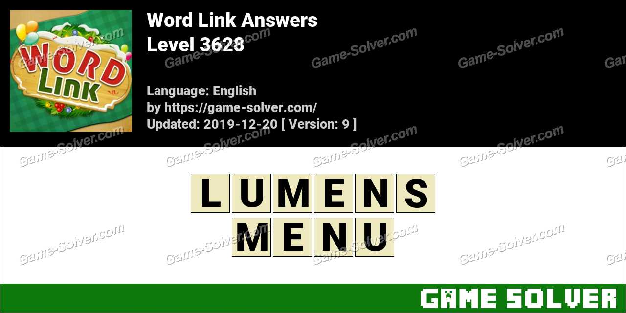 Word Link Level 3628 Answers