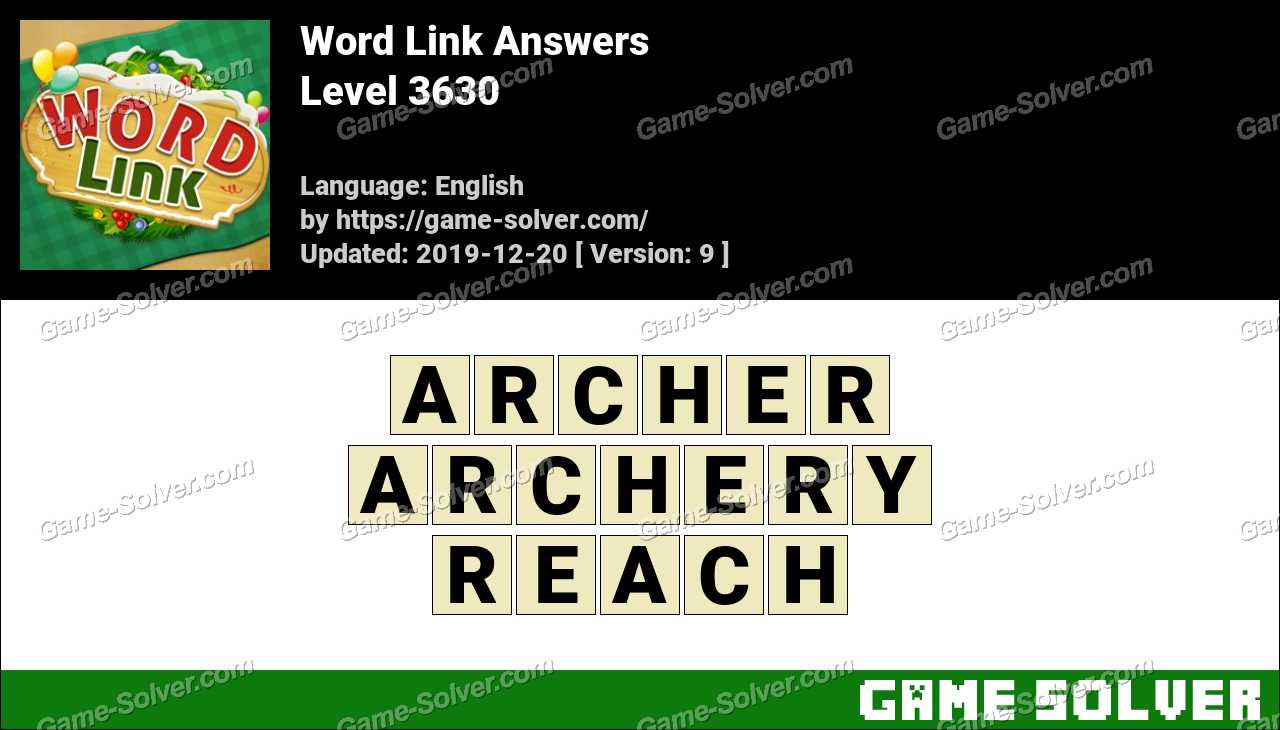 Word Link Level 3630 Answers