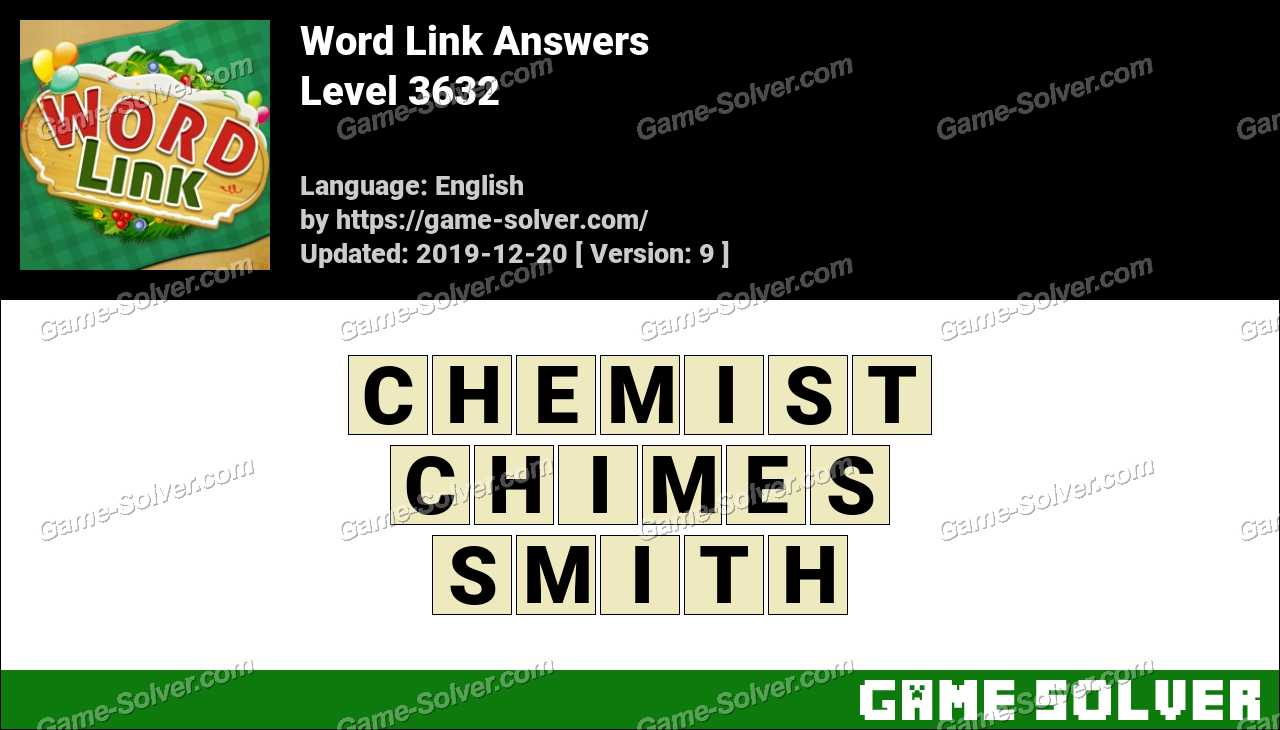 Word Link Level 3632 Answers