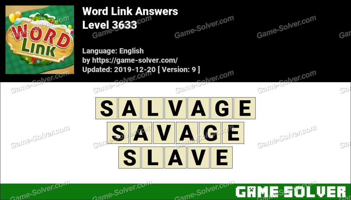 Word Link Level 3633 Answers