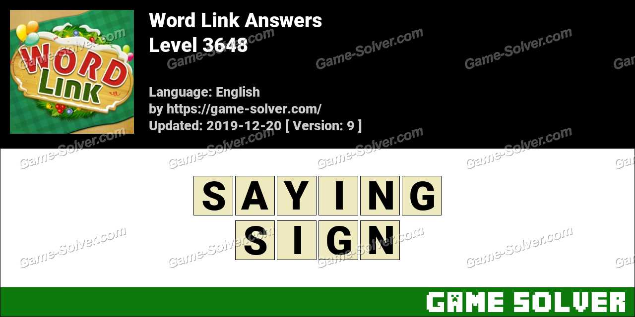 Word Link Level 3648 Answers