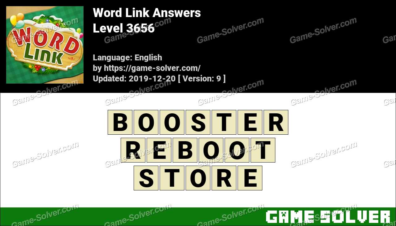Word Link Level 3656 Answers
