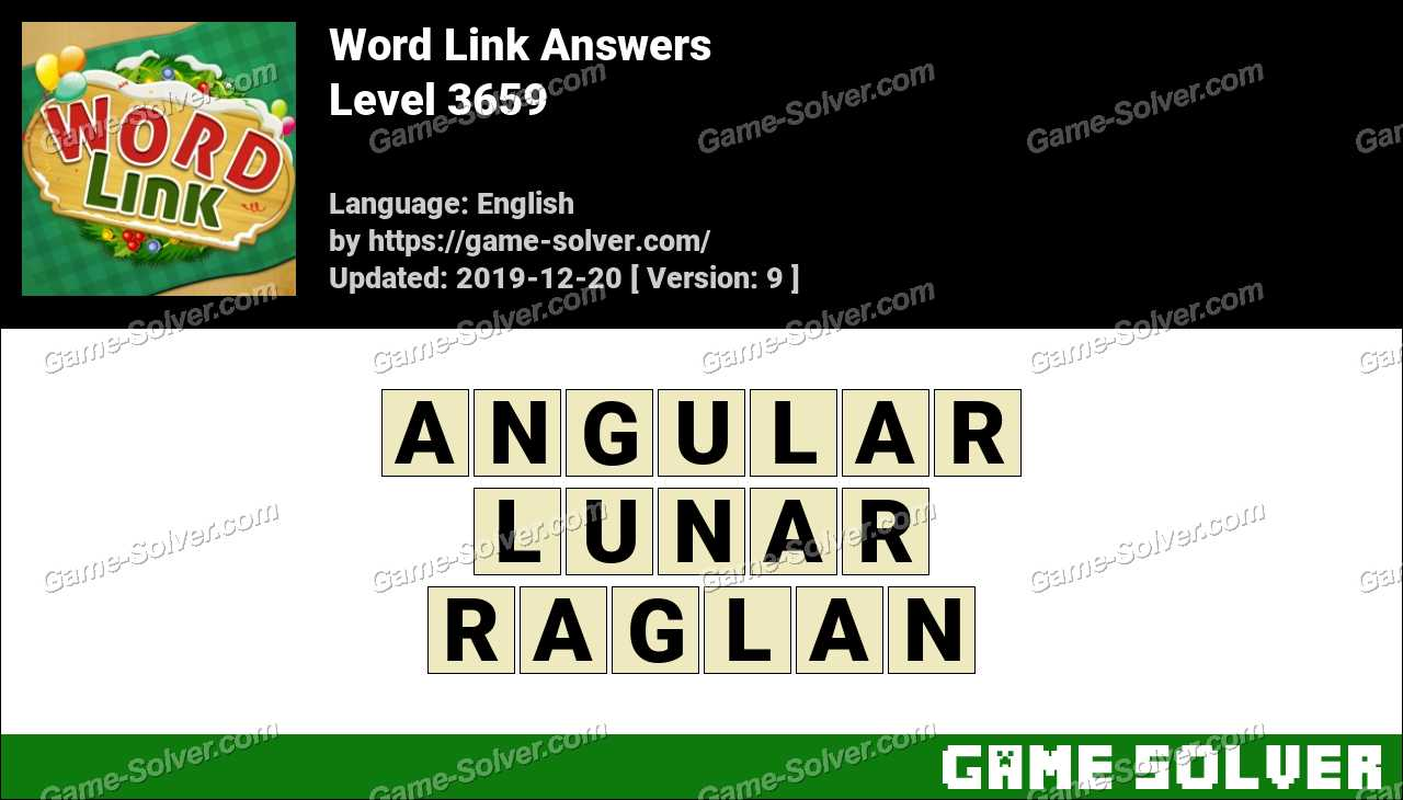 Word Link Level 3659 Answers