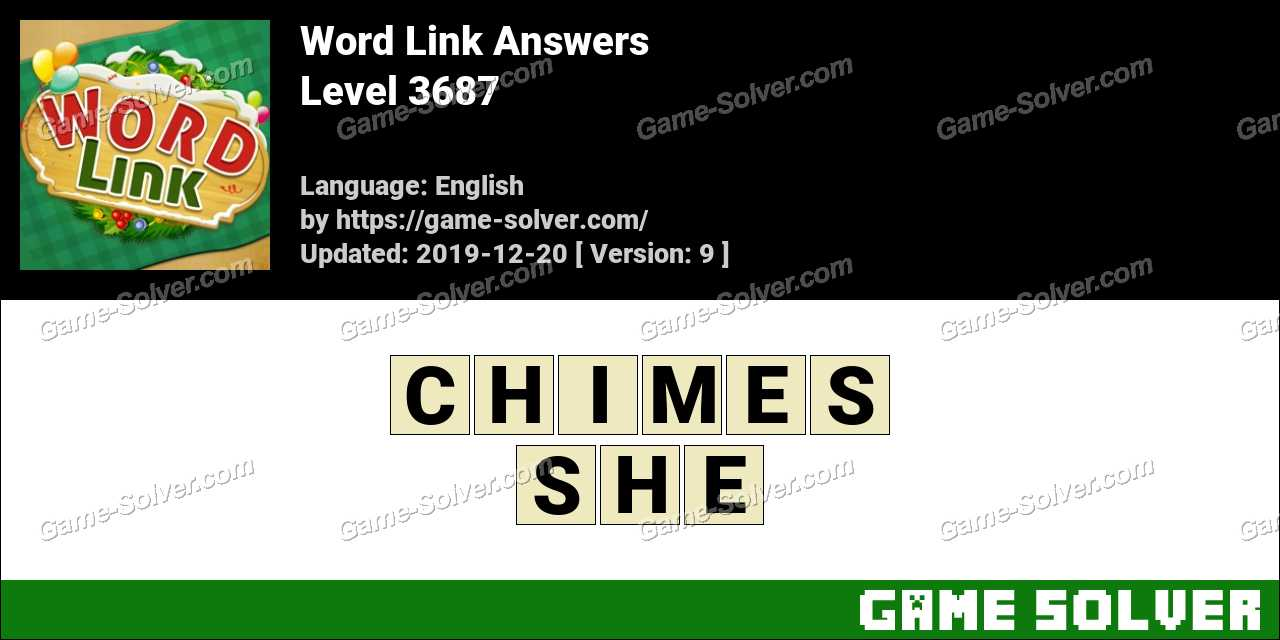 Word Link Level 3687 Answers