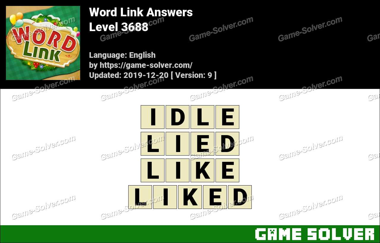 Word Link Level 3688 Answers