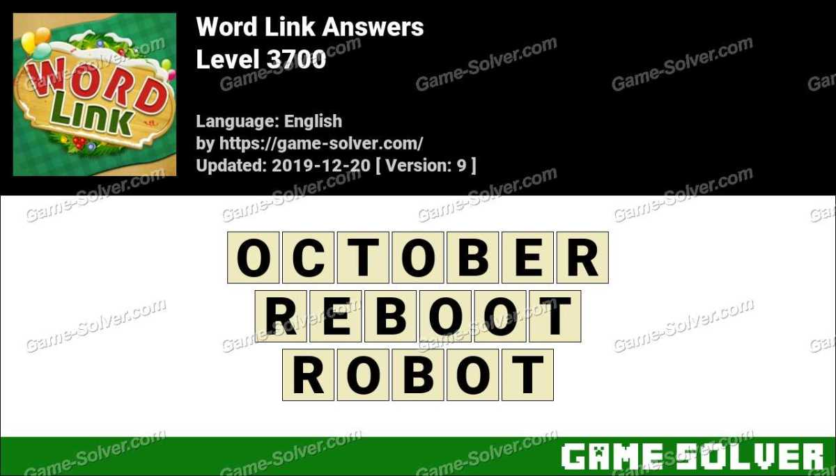 Word Link Level 3700 Answers