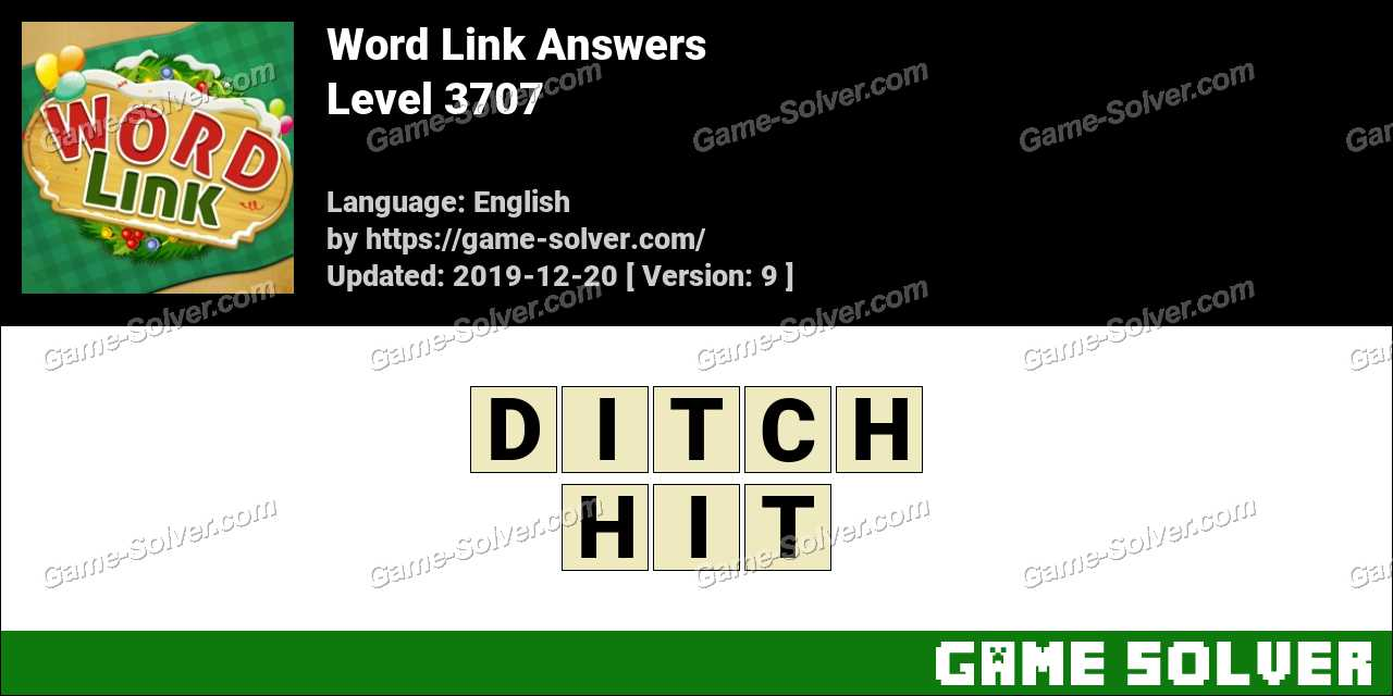 Word Link Level 3707 Answers