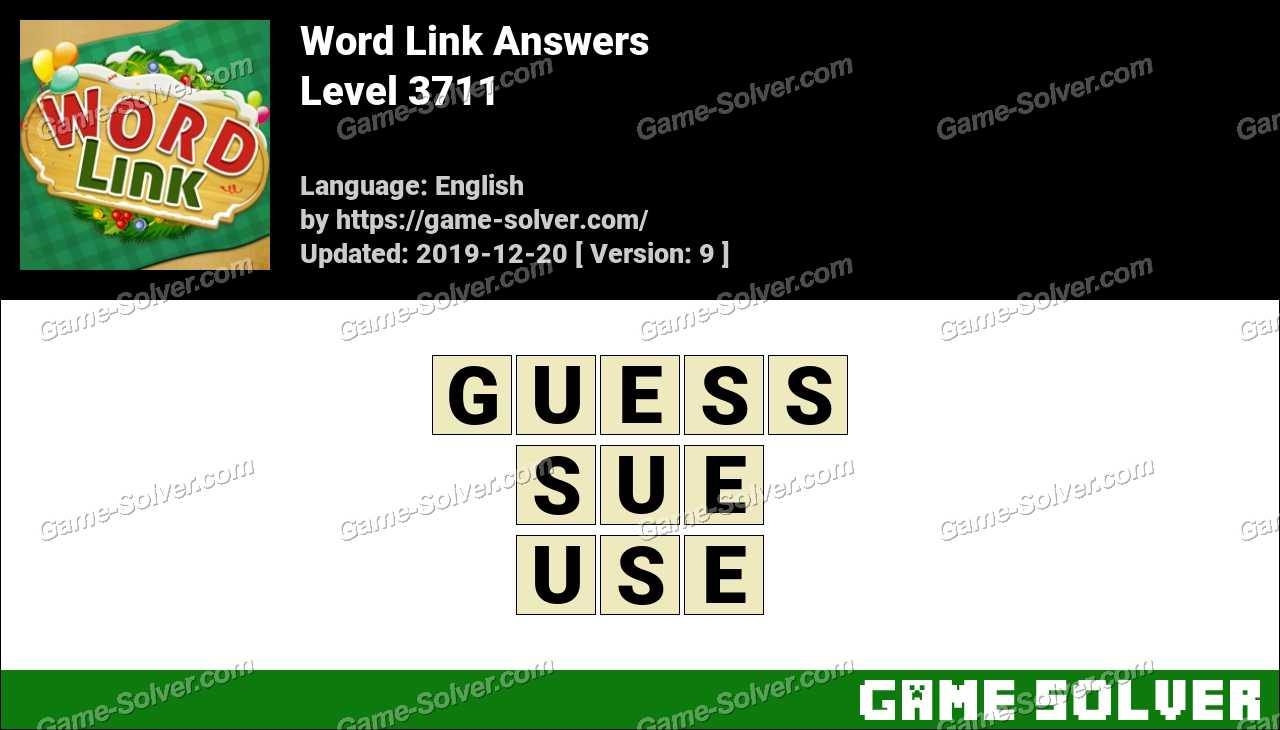 Word Link Level 3711 Answers