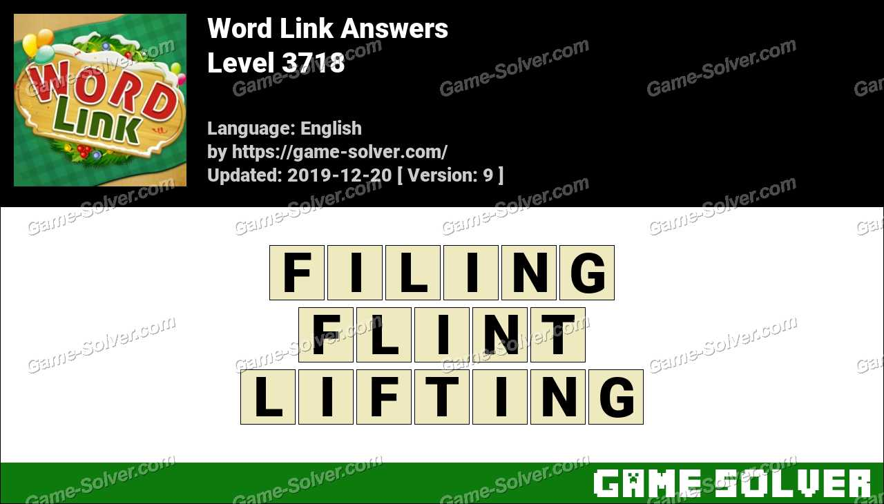 Word Link Level 3718 Answers