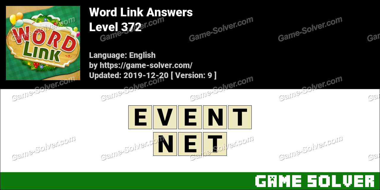 Word Link Level 372 Answers