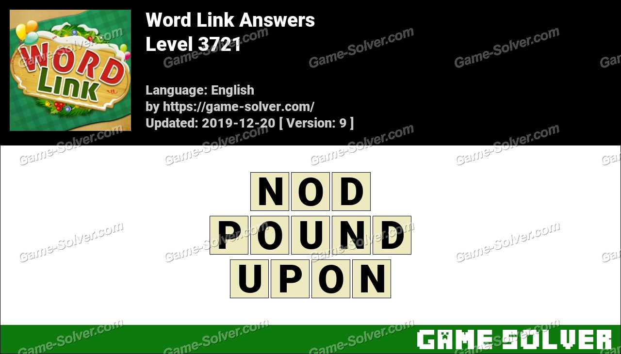 Word Link Level 3721 Answers