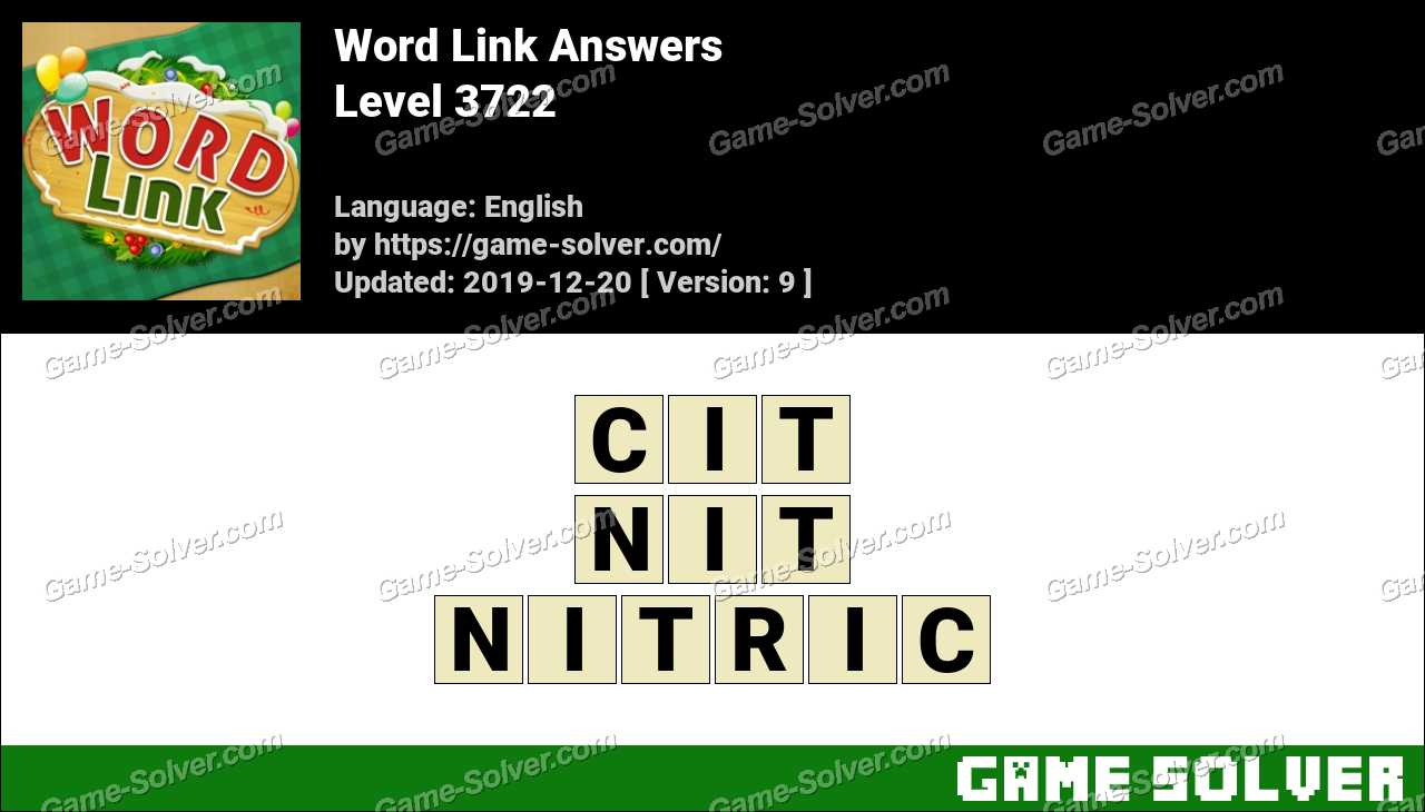 Word Link Level 3722 Answers