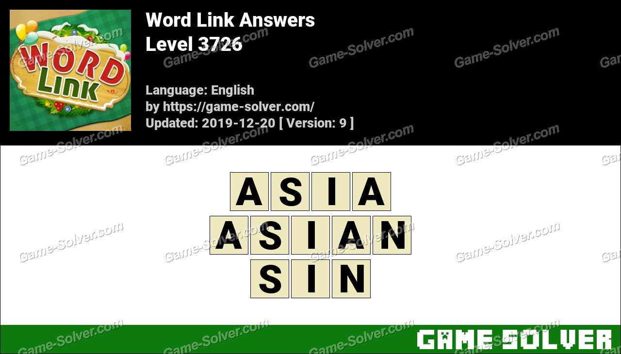 Word Link Level 3726 Answers