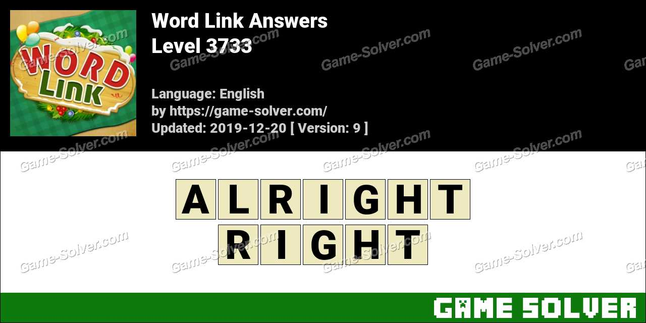 Word Link Level 3733 Answers