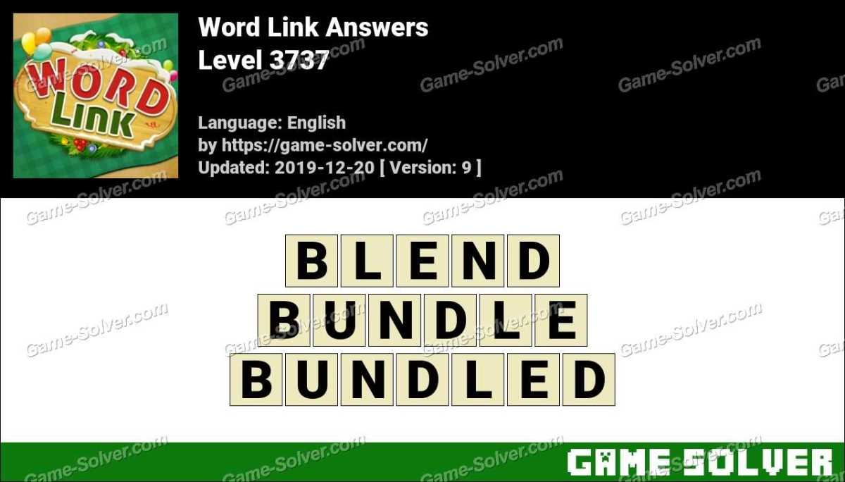 Word Link Level 3737 Answers