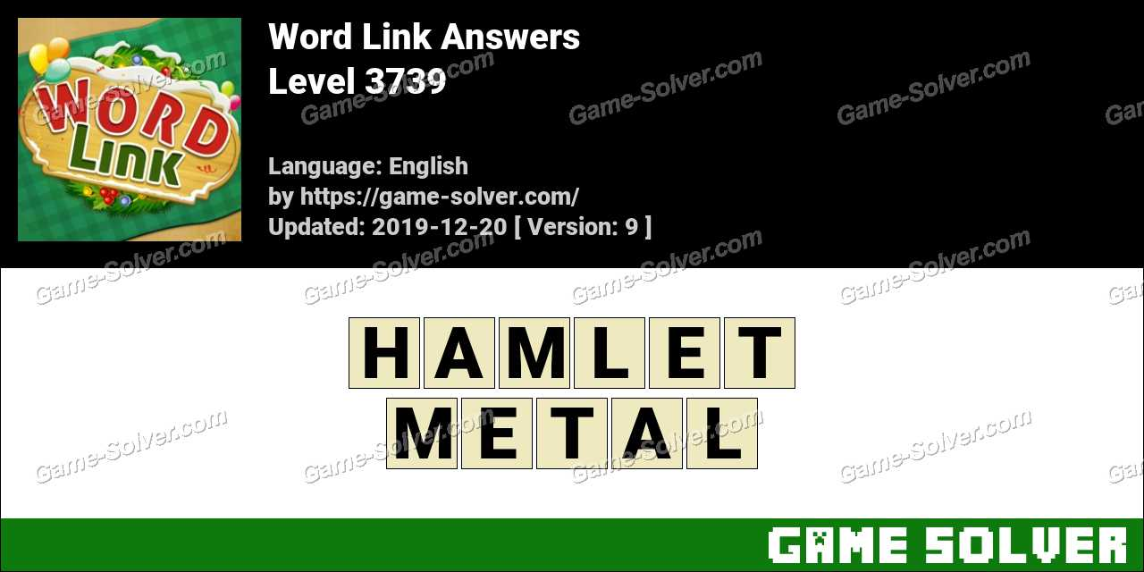 Word Link Level 3739 Answers