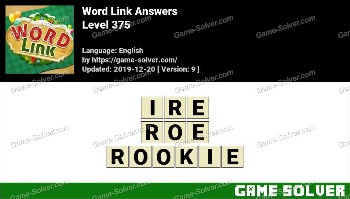 Word Link Level 375 Answers