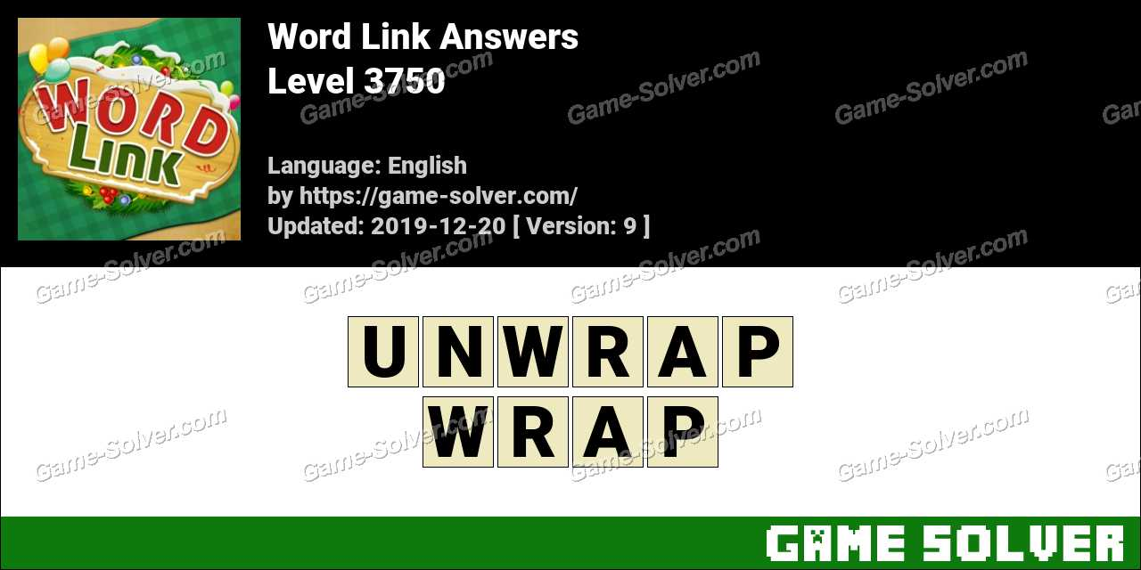 Word Link Level 3750 Answers