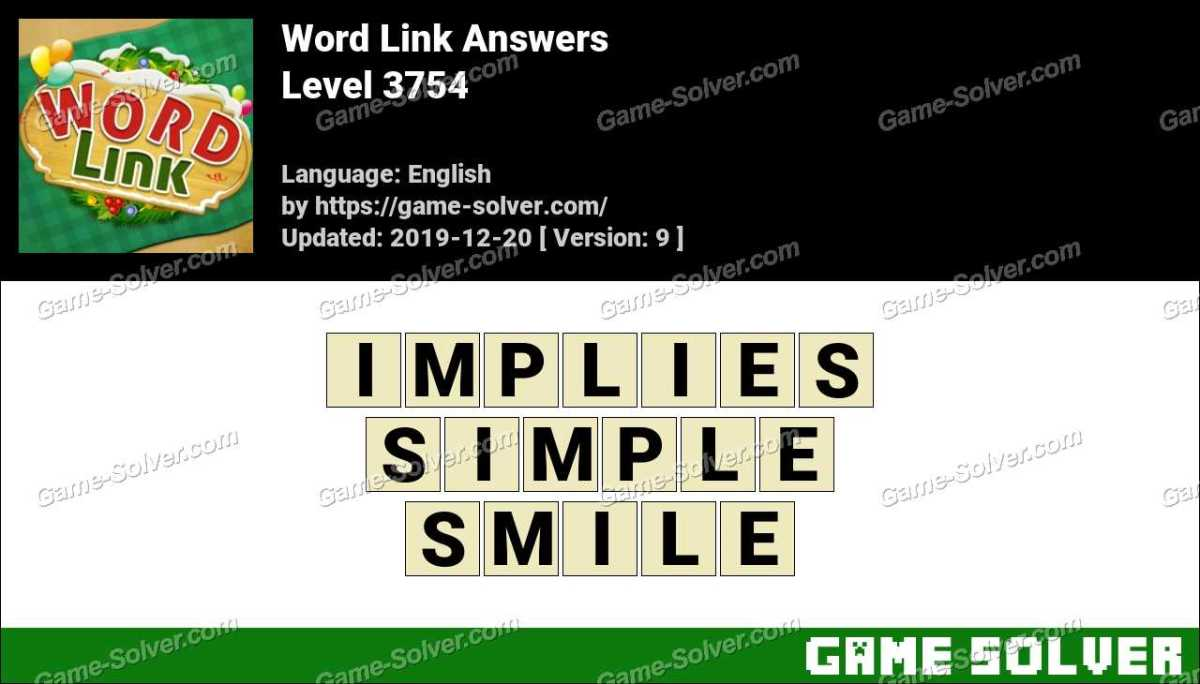 Word Link Level 3754 Answers