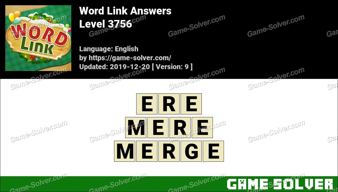 Word Link Level 3756 Answers
