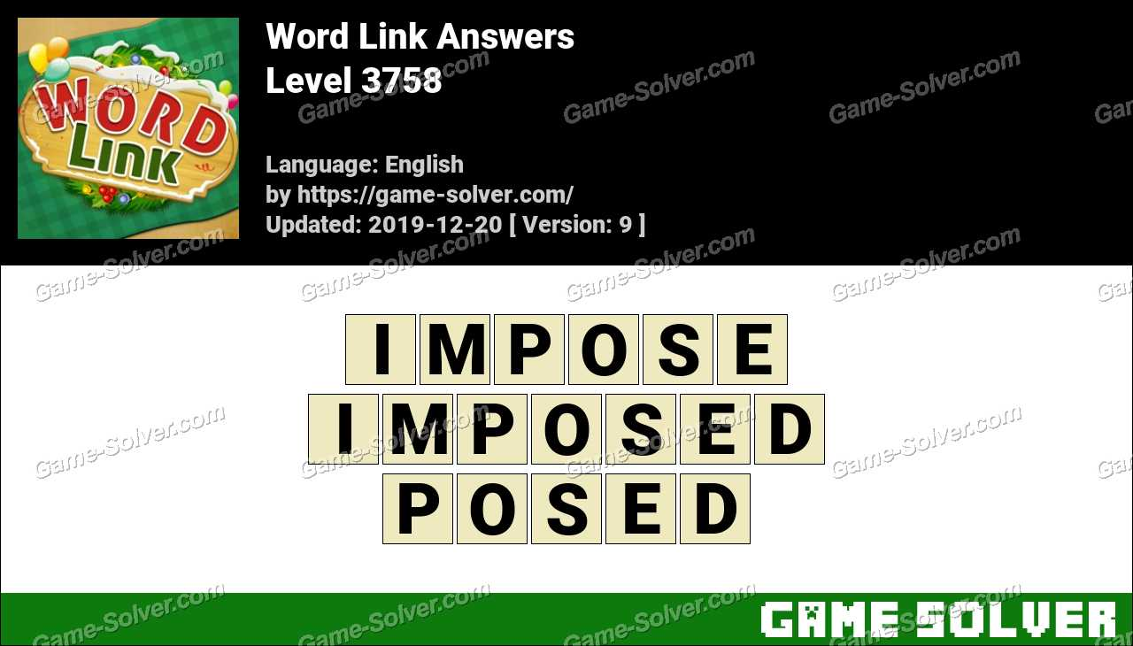 Word Link Level 3758 Answers
