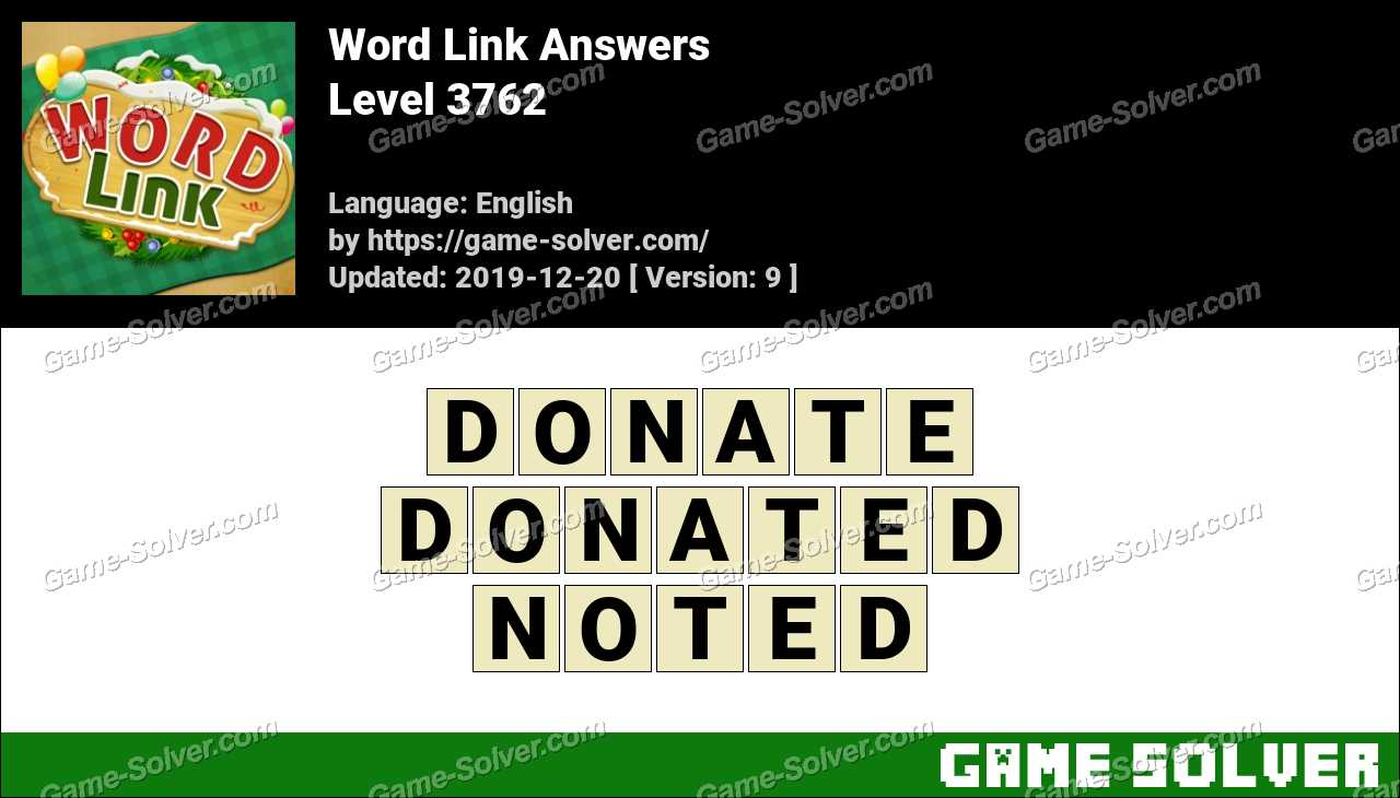 Word Link Level 3762 Answers