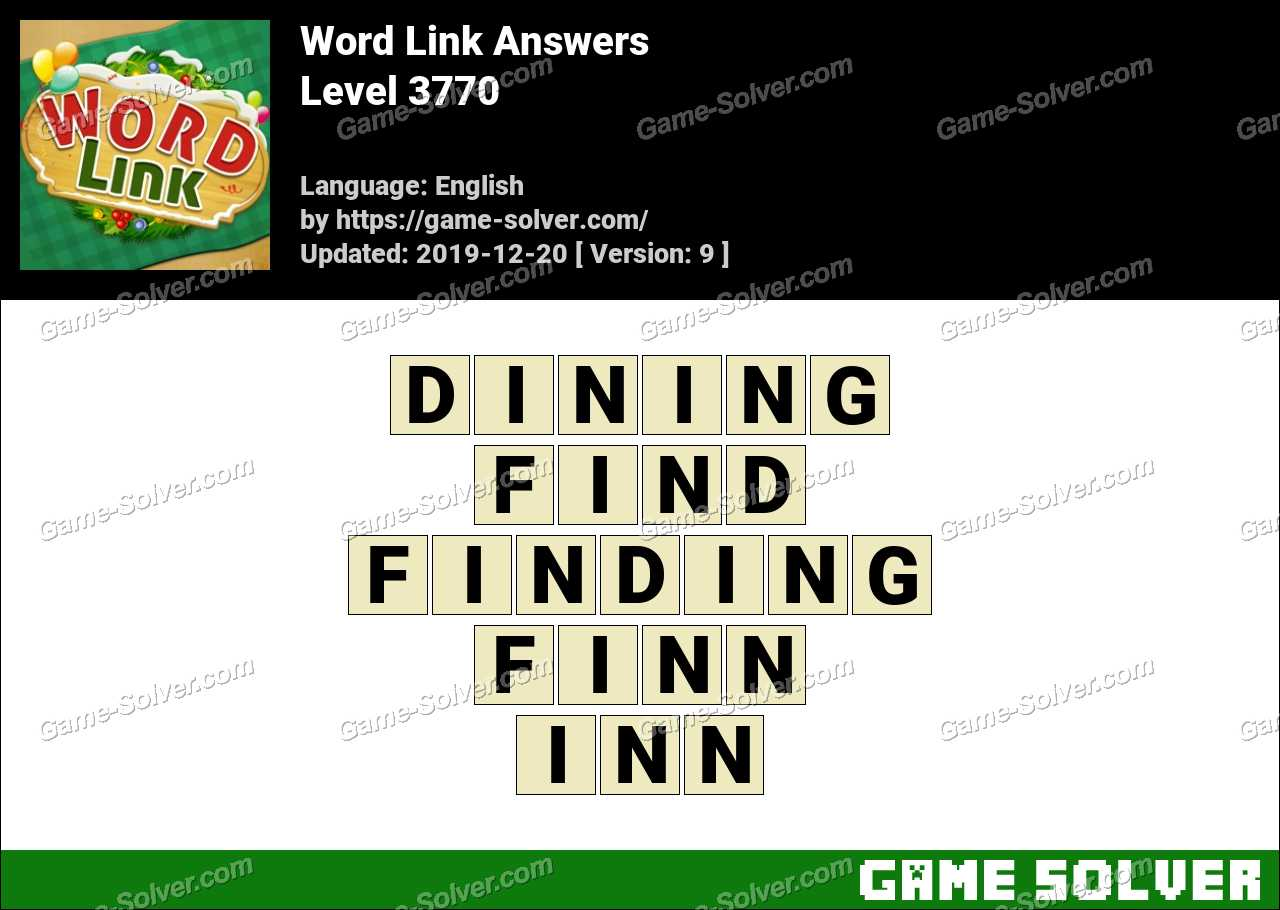 Word Link Level 3770 Answers