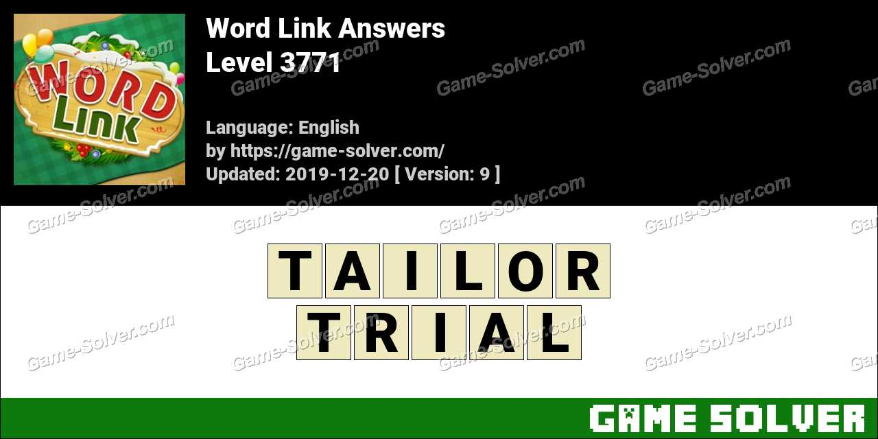 Word Link Level 3771 Answers
