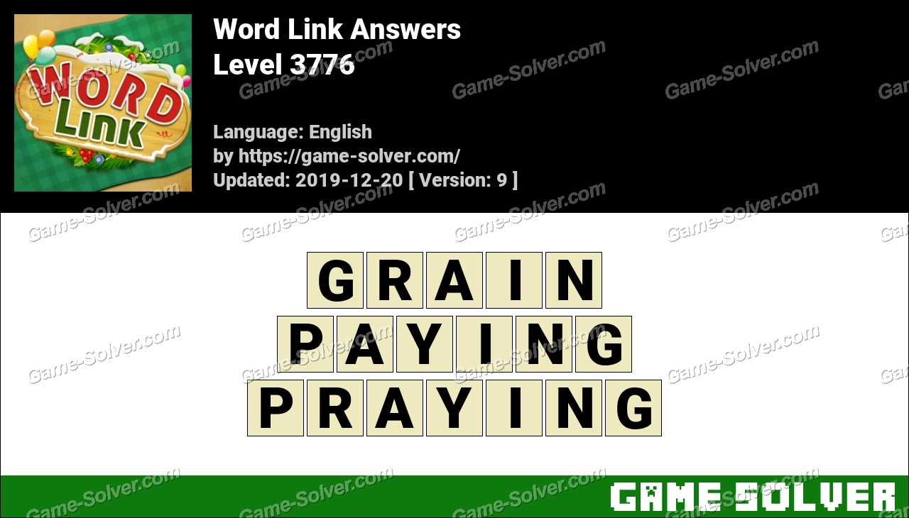 Word Link Level 3776 Answers