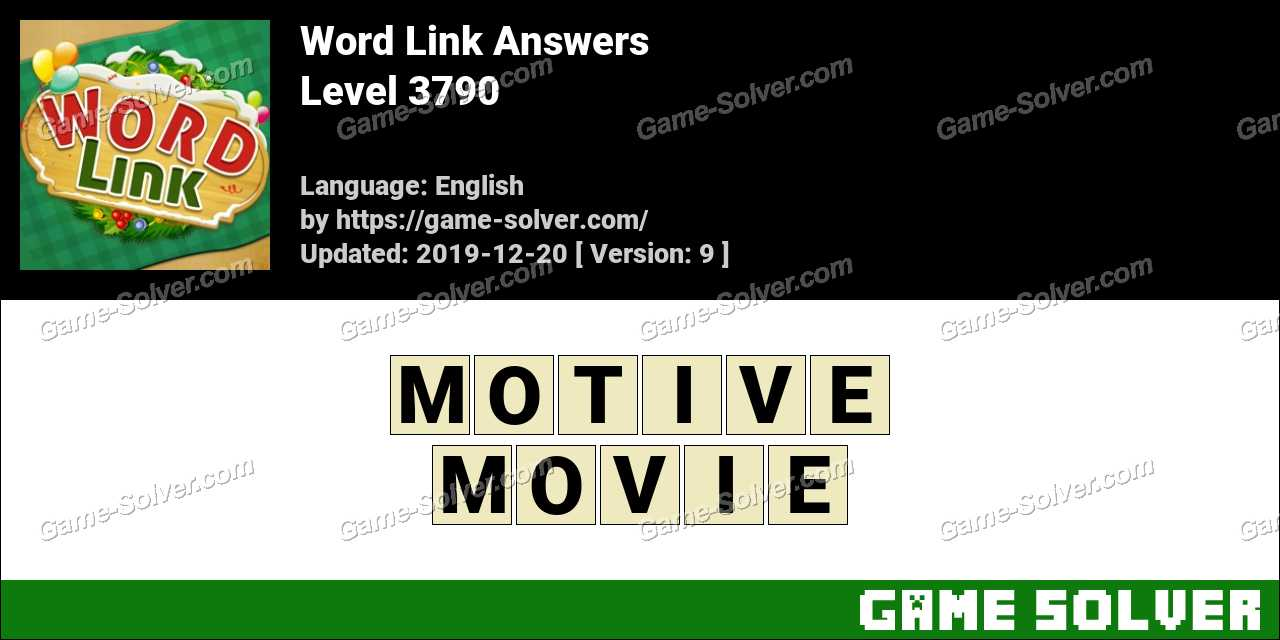 Word Link Level 3790 Answers