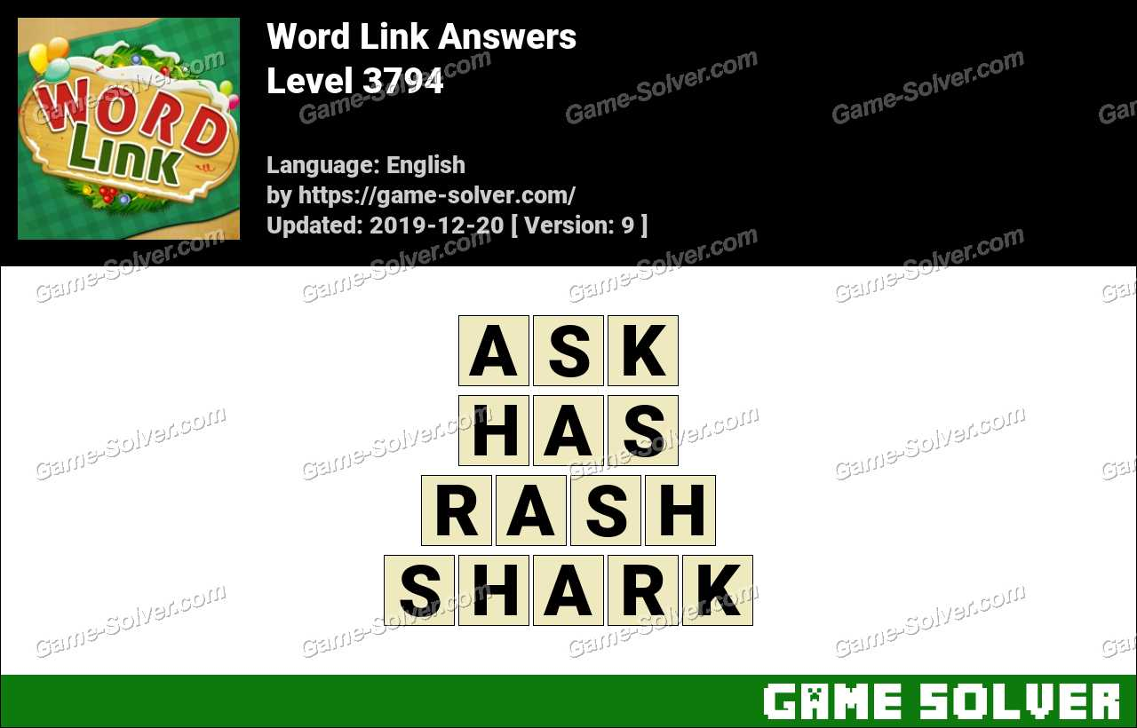 Word Link Level 3794 Answers