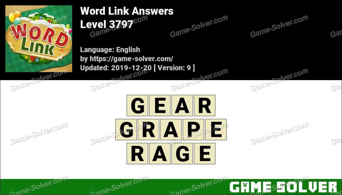Word Link Level 3797 Answers