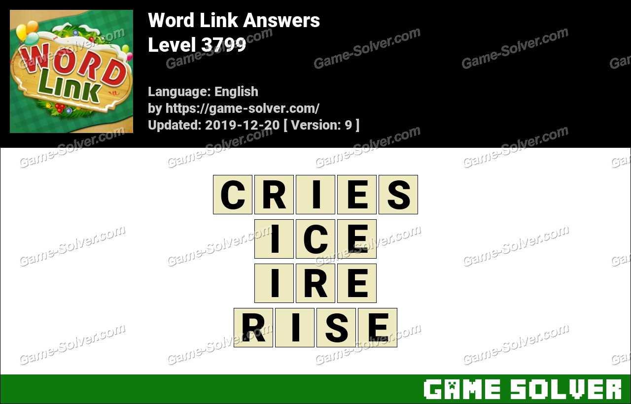 Word Link Level 3799 Answers