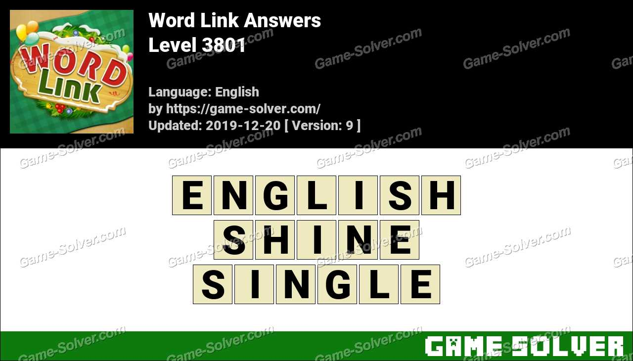 Word Link Level 3801 Answers