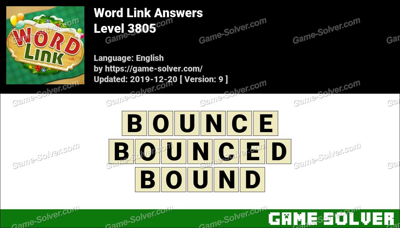 Word Link Level 3805 Answers