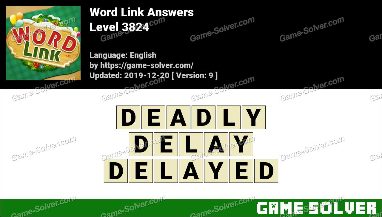 Word Link Level 3824 Answers