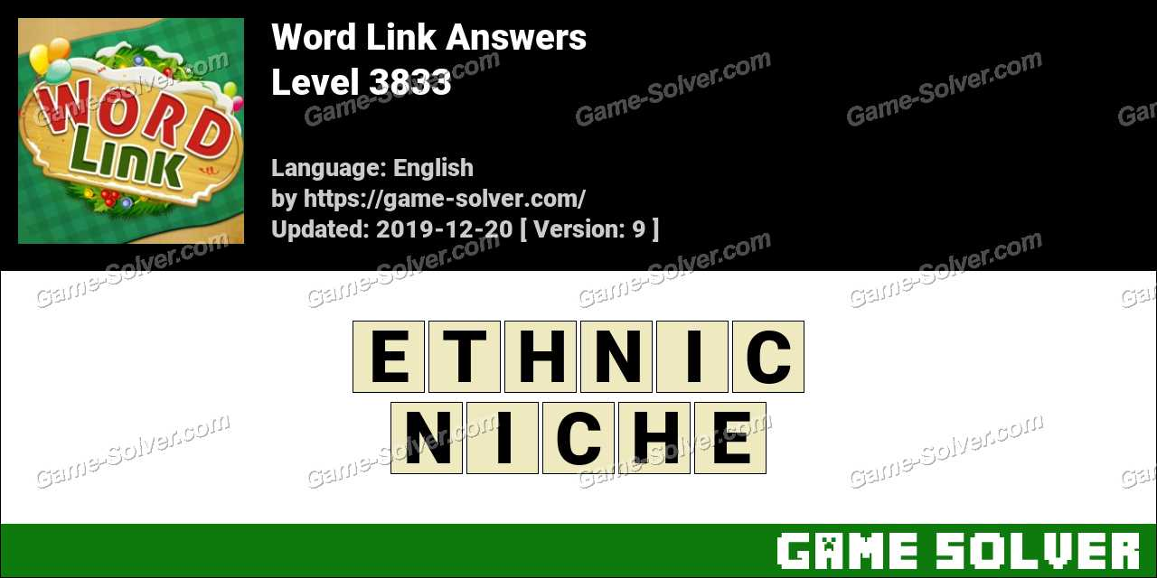 Word Link Level 3833 Answers