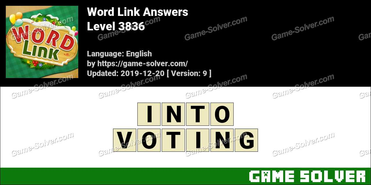 Word Link Level 3836 Answers