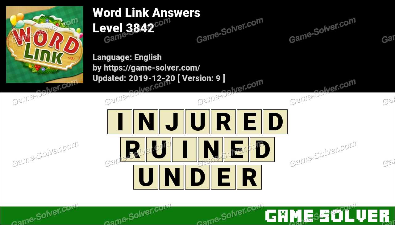 Word Link Level 3842 Answers