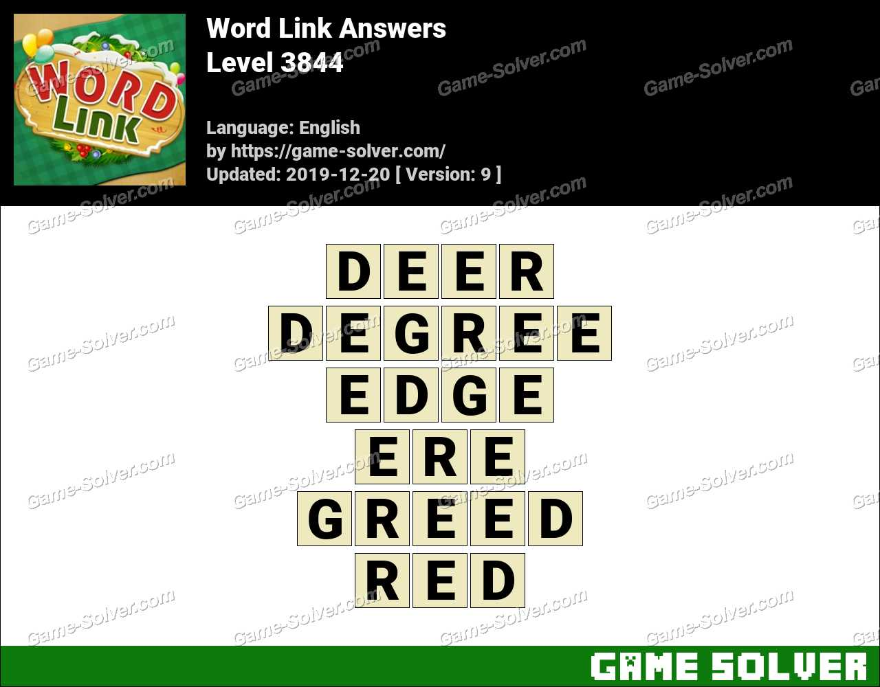 Word Link Level 3844 Answers
