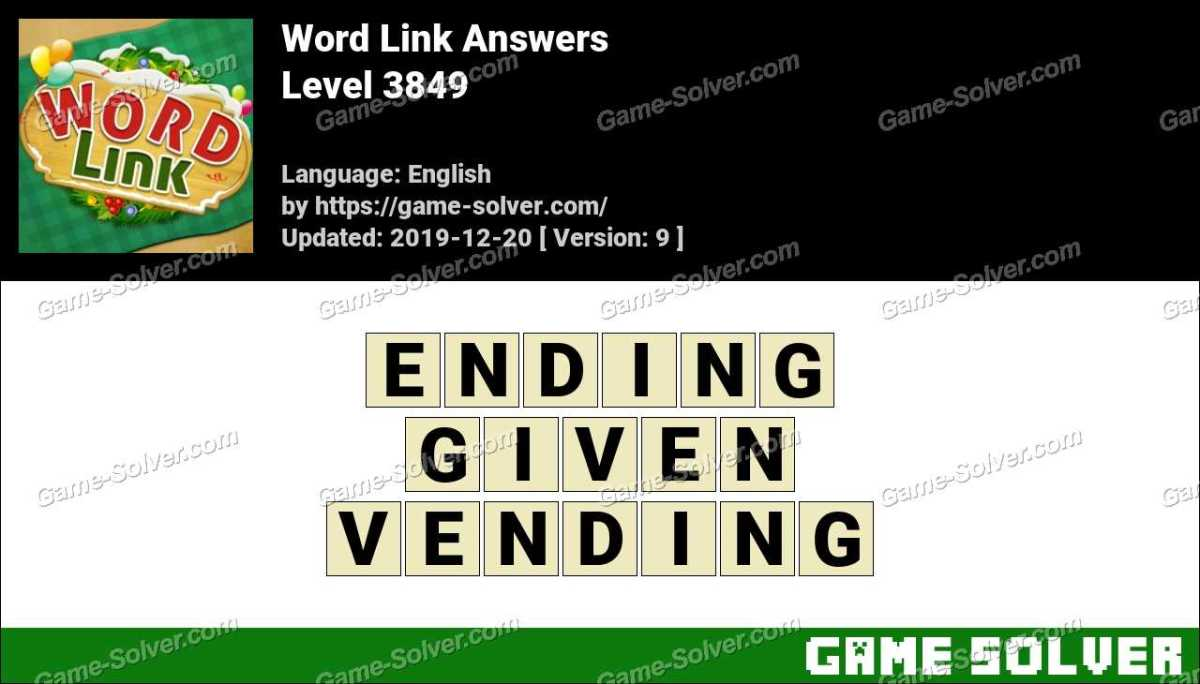 Word Link Level 3849 Answers