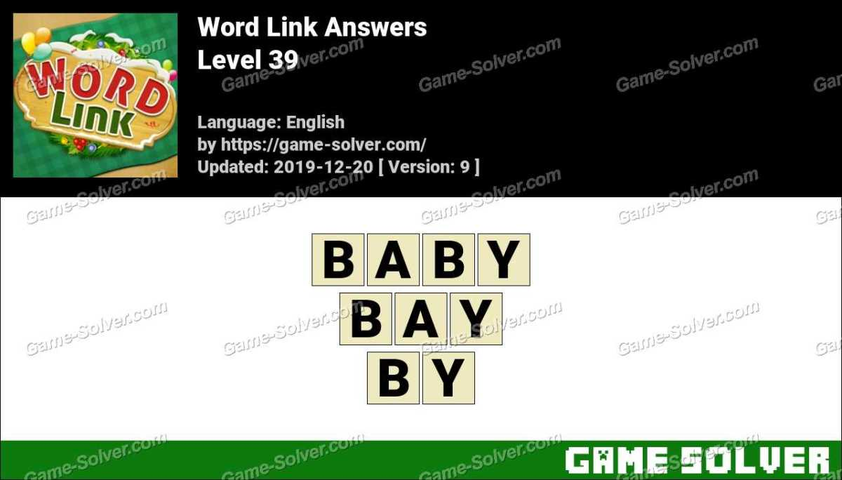 Word Link Level 39 Answers