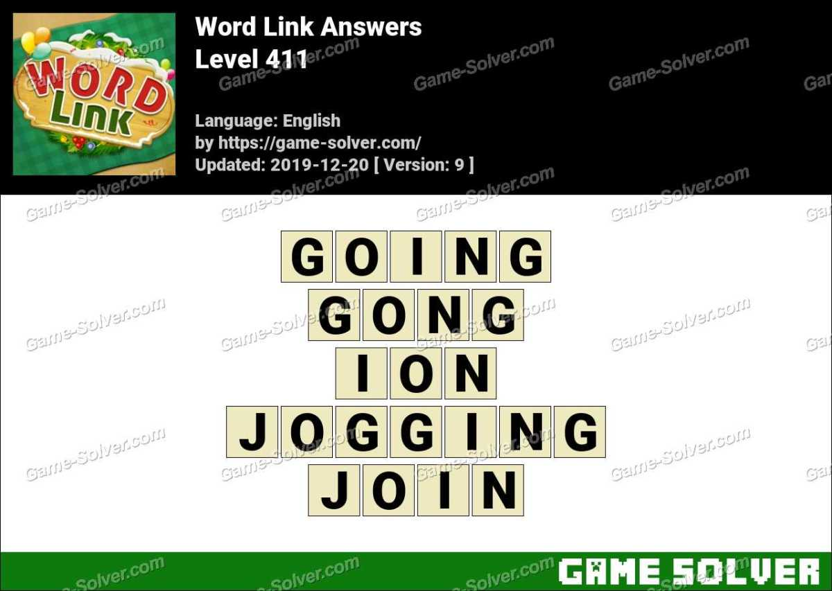 Word Link Level 411 Answers