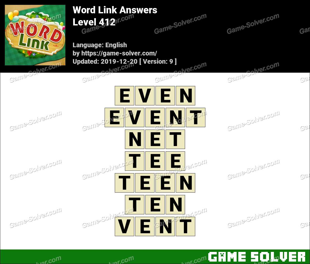 Word Link Level 412 Answers