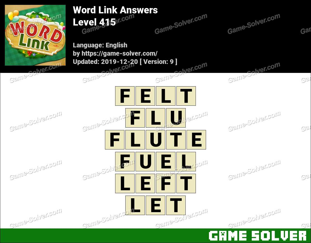Word Link Level 415 Answers