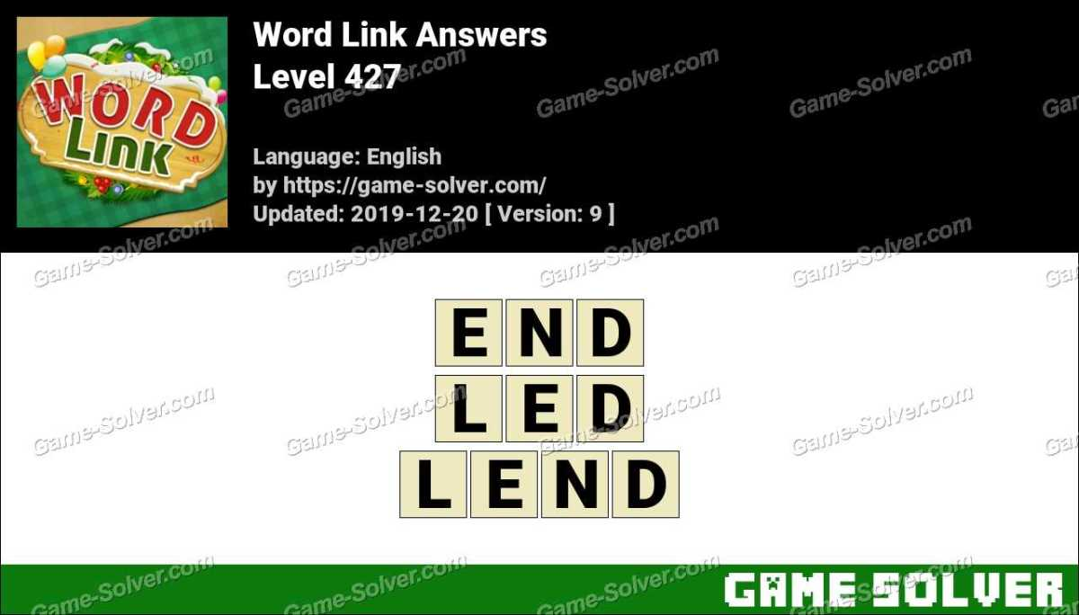Word Link Level 427 Answers