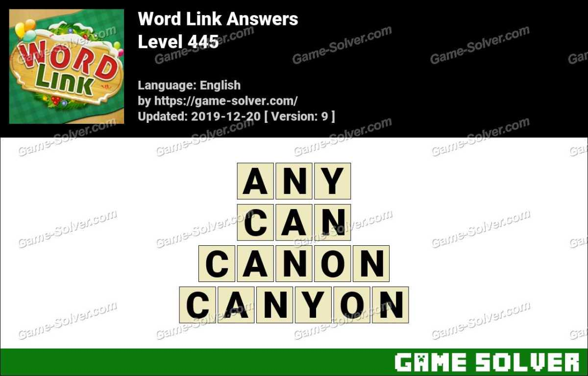 Word Link Level 445 Answers