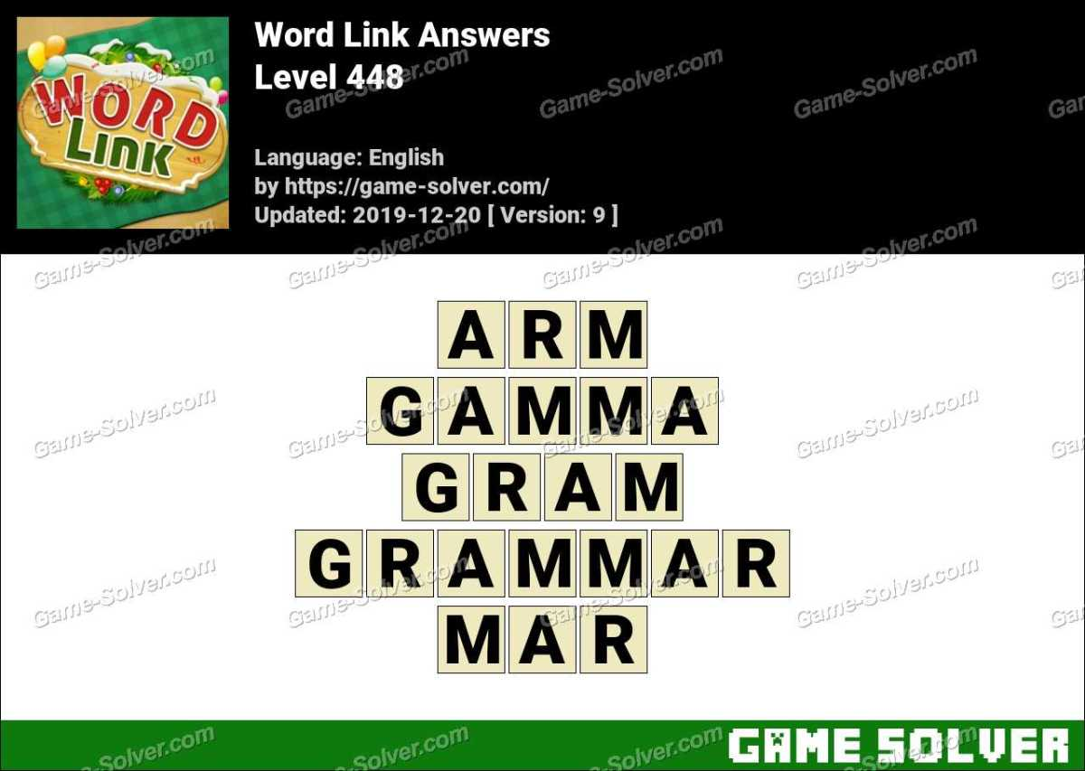 Word Link Level 448 Answers